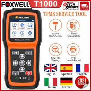 Foxwell T1000 Car TPMS Reset Tire Pressure Sensor Match Diagnostic Coding Tool