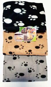 Fleece Decke Pfötchen Haustierdecke Vlies Fleece Hunde Katzen Tier Liege Decke