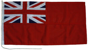 Red ensign traditionally sewn MoD approved flag marine grade woven polyester 1yd