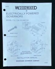 Woodward Electric powered governors 1712,1721,512,524 Install Manual 82329E 1984