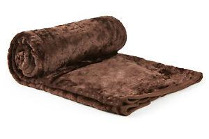 X LARGE Brown Mink FUR Blanket SOFA / BED THROW 200x240