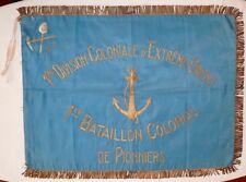 Grand FANION ORIGINAL 1945 INDOCHINE 1° BATAILLON COLONIAL PIONNIERS 1° DCEO