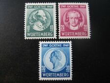 WURTTEMBERG FRENCH OCCUPATION ZONE Mi. #44-46 mint stamp set! CV $21.50