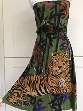 H&M Vestido Sin Tirantes Tigre Talla 10 (38)