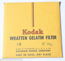 Wratten 99 Filter 3x3 75mm Gel Gelatin Excellent Kodak Same day shipping!