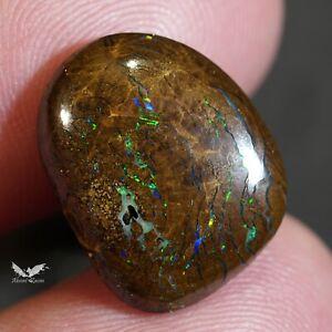 8.60 ct Boulder Opal Blue Green Natural Australian Solid Polished Stone #7.008