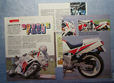 MOTOSPRINT990-PROVA / TEST-1990- YAMAHA FZR 600 - 3 fogli