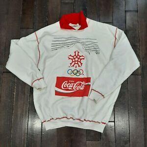 Vintage Stanfield Calgary Winter Olympics 1988 Coca-Cola Cotton Sweater XL