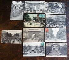 Lot 10 de cartes postales . PARIS. Les halles centrales, Place St Michel, Travau