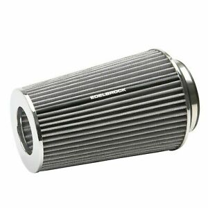 """Edelbrock 43692 Pro-Flo White Tall Conical Air Filter with 3"""", 3.5"""" and 4"""" Inlet"""