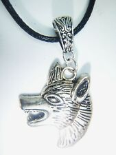 Tibetan Silver Wolf Head On A Waxed Cord Game Of Thrones Style Organza Gift Bag