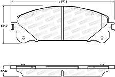 StopTech Disc Brake Pad Set Front for Toyota Highlander, Lexus RX350 # 308.13240