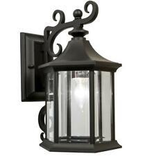 Newport Crest Mansfield 1-Light Black Outdoor Wall Lantern