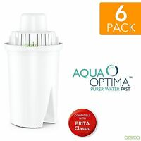 6 Aqua Optima Universal fits BRITA Classic Water Refill Replace Filter Cartridge