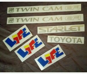 Toyota Starlet Ep91 Body Decal Set 7 Decals
