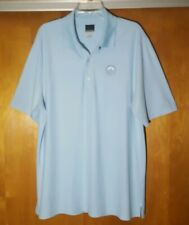 Greg Norman White Shark Play Dry Golf Polo Shirt Olympia Fields CC ~ Mens Size L