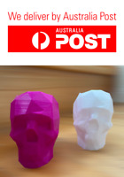 Low Poly Skull | Pen Pencil Flower Holder | 2 units Pink and White | Gift Idea