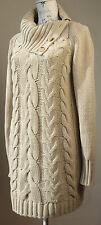 Grobe Damen-Pullover & -Strickware aus Baumwollmischung mit Knöpfen