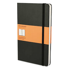 Moleskine Hard Cover Notebook Ruled 8 1/4 x 5 Black Cover 192 Sheets MBL14