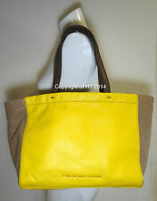 MARC BY MARC JACOBS WHAT'S THE T YELLOW COLORBLOCK TOTE BAG