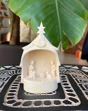 Crèche de Noël 5 santons étoile du berger en bois sacré artisanat de Madagascar