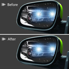 2PCS oval Rainproof Car Rearview Mirror Sticker Anti-fog Film Transparent -SK23