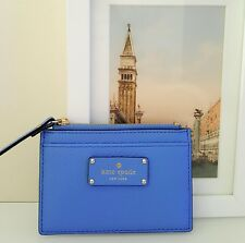 NWT Kate Spade Adi Grove Street Aliceblue Leather Wallet for CCards/ID/Cash $59