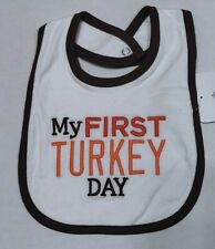 Carter's Thanksgiving Bib First Turkey Day Brand New Boy or Girl