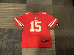 NWT Nike Micheal Crabtree Sewn 44 Onfield Red 49ers #15 Jersey