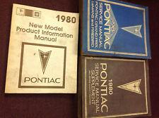 1981 Pontiac Firebird Trans Am Grand Prix Service Shop Repair Manual Set W 1980