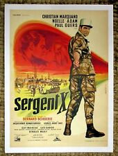 "FRANCAIS MOVIE POSTER ""SERGENT X"" [OF THE FOREIGN LEGION] J. MASCII - L'AFFICHE"