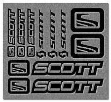 Scott Aufkleber Set 10tlg. Fahrrad Rad Rahmen Frame 30 Farben 20cm Scott005