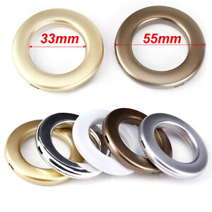 20 PCS Round Eyelet Curtain Rings Clip Grommet Blinds Drapery Accessories