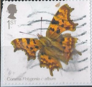 z3305) Great Britain. 2013. Used. SG 3510. 1st. Comma. Butterflies