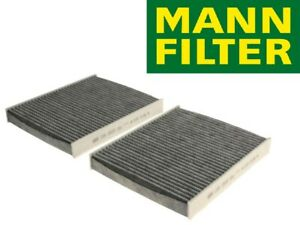 MANN-FILTER Cabin Air Filter Set Activated Charcoal for BMW F01 F02 5 6 7 Series