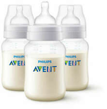 Philips Avent 3 X 125ml Classic Plus+ Triple pack Bottle Baby anti colic feeding