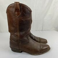Vintage AVIREX Boots A-2 Brown Leather Men's 10 USA Work Flight Army Western