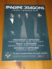 IMAGINE DRAGONS - 2015  Australian Tour - Smoke + Mirrors  Laminated Poster