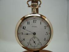 Swiss Cyma-Tavannes thin pocket watch. Running.