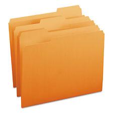 Smead File Folders 1/3 Cut Top Tab Letter Orange 100/Box 12543