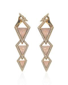 Stephen Webster Lady Stardust 18k Rose Gold Diamond 1.40ct Earrings WE0958