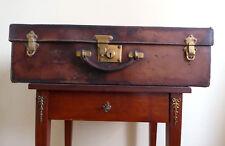 GOYARD PARIS Rare  Vintage Leather Trunk Suitcase