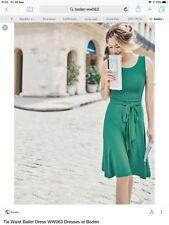 Boden New Tie Waist Ballet Dress - Emerald Green - Size 14L