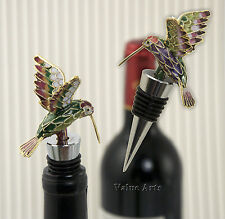 Cloisonne Hummingbird Bottle Stopper