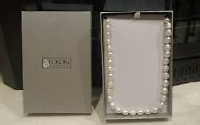 """Honora White 20""""  Freshwater Cultured Ringed Pearl Necklace"""