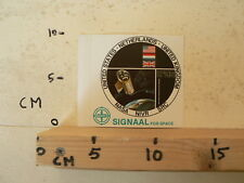 STICKER,DECAL SIGNAAL FOR SPACE NASA NIVR SRC USA,HOLLAND,UK SPACE B