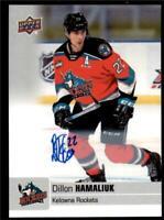 2019-20 UD CHL Autographs Parallel Auto #25 Dillon Hamaliuk - Kelowna Rockets