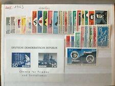 Lot DDR postfrisch 1963 komplett