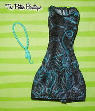 MONSTER HIGH STUDENT DISEMBODY LAGOONA DOLL OUTFIT REPLACEMENT DRESS & NECKLACE