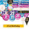 AGE 21 - Happy 21st Birthday Party Decorations (Oaktree) Banners & Bunting